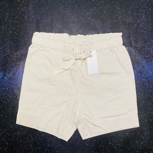 FRYE Anthropologie Ivory Relaxed Shorts Sz 25